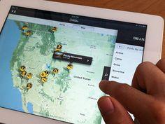 Map in iPad