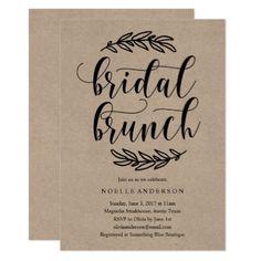 #invitations #wedding #bridalshower - #Rustic Bridal Shower Brunch Invitation