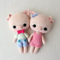 Pocket Piggy pdf Pattern  Cheeky and Hamlet par Gingermelon sur Etsy