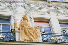 Czech Republic, Prague, Art Nouveau Statue