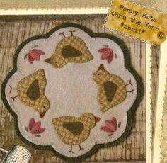 spring candle mat