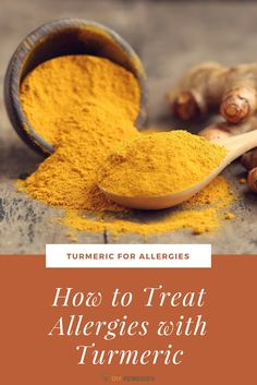 How to use Turmeric for Allergies Turmeric is a golden spice that widely used in Indian Ayurveda for treating many health and skin problems, including allergies. #DIYRemedies #Turmeric #Skin #Allergies