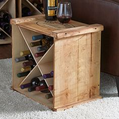 Personalized X Wine Crate Rack at Wine Enthusiast - $149.95