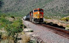 BNSF C-44-Dash 9AC Phoenix line Congress Az -2009 , - Were on the old Santa Fe Phoenix where its near 100 in the desert having a cold beer while waiting for this train back 2009