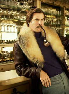 Will Ferrell as Ron Burgundy Will Ferrell, Ron Burgundy, Pipes And Cigars, Travis Fimmel, Charlie Hunnam, Guys Be Like, Photos Of The Week, Role Models, Comedians