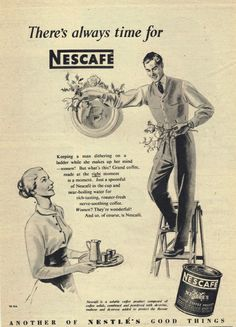 Retro / vintage Nescafe...love these old ads.....