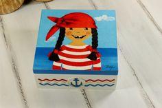 Pudełko marynarskie dla dziewczynki od JoannaDesign