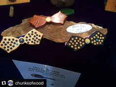 Wooden bow ties, Jason Lee, Chunks of Wood. Jason Lee, Wooden Bow Tie, Holiday Market, Bow Ties, Gift Guide, Bows, Gifts, Arches, Presents