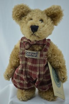 """Brand: The Original Boyd's Bears Name: Samuel Collection Series: T.J Best Dressed Size: 6"""" Item #: 918052. ●"""