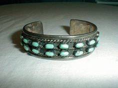 vintage navajo sterling silver cuff by qualityvintagejewels