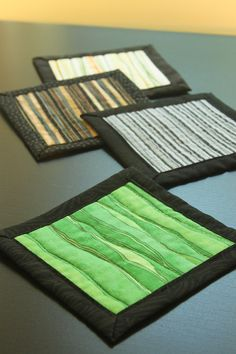 Quilted coasters