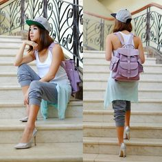 Get this look: http://lb.nu/look/6780818  More looks by Kryz Uy: http://lb.nu/kryz  Items in this look:  Grafea Backpack, Wagw Cardigan
