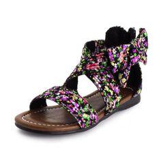 Generation19 Girls Ankle Strap Floral Roman Sandal Black 12 M US Little Kid Max Footwear,http://www.amazon.com/dp/B00I55SSMY/ref=cm_sw_r_pi_dp_mdUAtb13PDFX4FF1