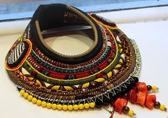 African Prints in Fashion: Toubab Pop-up Store in NYC Textile Jewelry, Fabric Jewelry, Tribal Jewelry, Jewelry Art, Jewellery, African Necklace, African Beads, African Jewelry, African Inspired Fashion