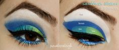 How to create that perfect eyes with a shade of blue, green, and white Purple Eyeshadow Looks, Makeover Tips, Perfect Eyes, My Beauty, Shades Of Blue, I Am Awesome, Halloween Face Makeup, How To Apply, Make Up