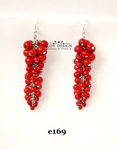 red miracle earring miracle beads original by FLOVDESIGN on Etsy
