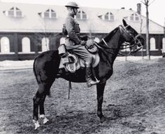 General George Patton - One of the greatest horsemen this country has seen... from Cav to Polo to Steeplechase to the Modern Pentathalon in the 1912 Olympics... Patton loved horses!