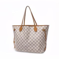 Louis Vuitton Neverfull MM Damier Azur Shoulder bags White Canvas N51107