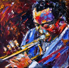 Miles Davis Painting Jazz Trumpet Art Music Paintings by Debra Hurd-available at http://debrahurd.blogspot.com/2014/03/miles-davis-painting-jazz-trumpet-art.html