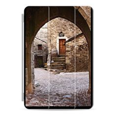 Archway with Cobblestones and Stone Wall - iPad Cover / Case ($50) ❤ liked on Polyvore featuring accessories, tech accessories, ipad cover / case, apple ipad cover case, ipad sleeve case, ipad cases, apple ipad case and ipad cover case