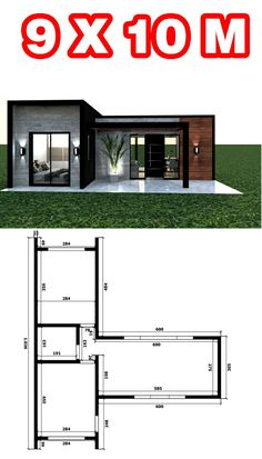 House Roof Design, Home Building Design, Small House Design, House Layout Plans, New House Plans, House Layouts, Building A Container Home, Container House Design, Contemporary House Plans