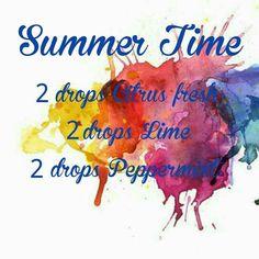 "YOLI ""Summer Time"" Diffuser Blend Essential Oil Spray, Essential Oil Diffuser Blends, Young Living Diffuser, Doterra Blends, Doterra Diffuser, Diffuser Recipes, Young Living Essential Oils, Aromatherapy, Lisa Johnson"