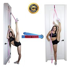 Stunt Stand Door Flexibility & Stretching Leg Strap - Great for Cheer, Dance, Gymnastics or Any Sport! Free How-to-Use Links Included . Cheerleading Workouts, Cheer Workouts, Competitive Cheerleading, Cheerleading Bows, Volleyball Drills, Volleyball Quotes, Volleyball Gifts, Gymnastics Flexibility, Flexibility Workout