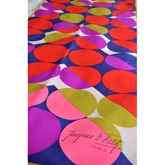 Jacques goes Pop. 1960s French designer silk scarf available at divine-style.com