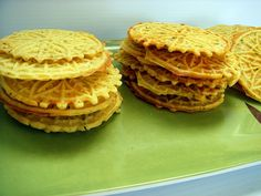 savory lentil-rice pizzelles - use brown rice flour instead