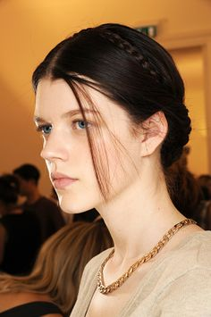 Antonia Wesseloh backstage at the Valentino haute couture Fall/Winter 2013-2014 runway show.