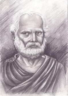 """Aristóteles - 384 a.C / 322 a.C Mais de 2.300 anos depois de sua morte, Aristóteles continua sendo uma das pessoas mais influentes que já viveu. Ele contribuiu para quase todos os campos do conhecimento humano e foi o fundador de muitas áreas novas. De acordo com o filósofo Bryan Magee, """"é duvidoso que qualquer ser humano saiba o tanto quanto ele sabia""""."""