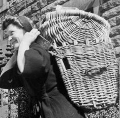 Margaret Fairnie in working clothes. Fisherrow fishwife.