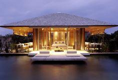 Pavilion overlooking pond - Amanyara Boutique Hotel - Turks & Caicos