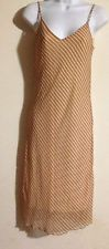 Womens Beige White Striped Chesley Dress  Size Small