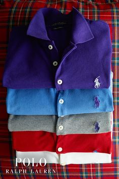 Gifts for him: Signature sweaters and Polo shirts he'll wear season after season.