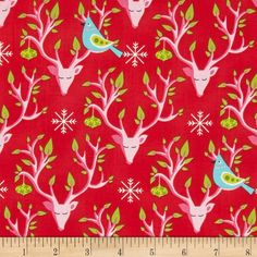 Michael Miller Festive Forest Festive Santa from @fabricdotcom  Designed by Tamara Kate for Michael Miller, this cotton print fabric is perfect for quilting, apparel and home decor accents. Colors include black, teal, white, shades of red, shades of green, teal, and shades of pink.