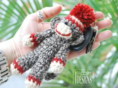 Ima lil Monkey Key Chain PDF Crochet Pattern