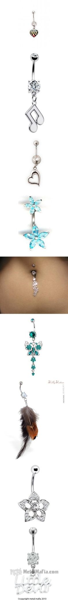 """belly button rings i want 3"" by megan-purpleswag ❤ liked on Polyvore"