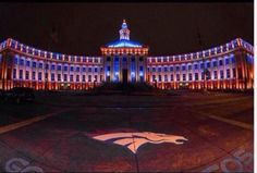 City and County of Denver Justice Center. This is how We Do It a Mile High! Proud Home of The Denver Broncos! Denver Broncos Football, Go Broncos, Football Love, Broncos Fans, Football Season, Football Memes, Broncos Gear, Sport Football, College Football