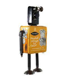 Jacob » Nerdbots » found-object robot sculptures for geeks & nerds alike