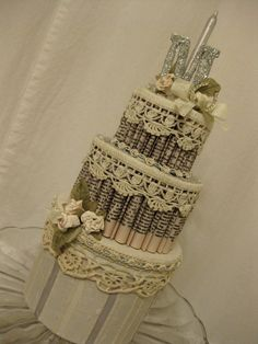 """Tiered book page """"cake"""""""