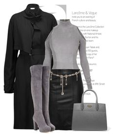 """""Grey & Black"" by queenvirgo on Polyvore featuring IRO, Balmain, Versace and Prada"