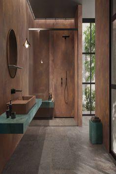 #papapolitis #bathroom #shower #ideas #flooring #tiles #metal #minimal #interior #design Alchemy, Minimalism, Tiles, Bathtub, Flooring, Shower, Mirror, Interior, Bathroom Ideas