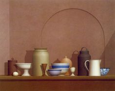 William Bailey. There is this crazy organized beauty in Bailey's still lifes, literally everything is connected.