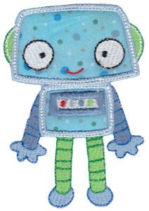 Embroidery | Free Machine Embroidery Designs | Bunnycup Embroidery | Robots Applique