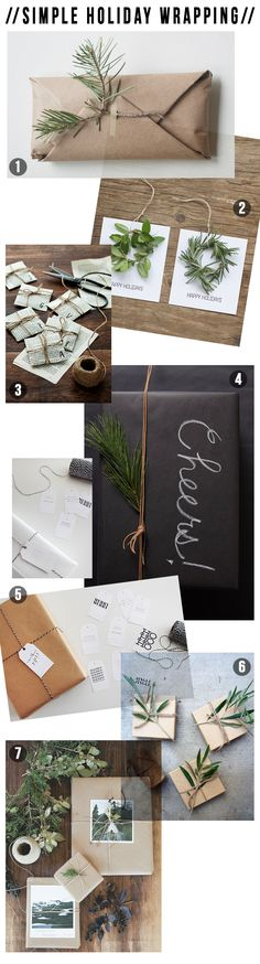 Simple Holiday Wrapping