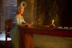 Cinderella Movie with Spode china and Lily James as Cinderella