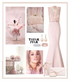 """Think Pink"" by terry-tlc ❤ liked on Polyvore featuring Ariella, Vera Bradley, Henri Bendel, Honora and Oscar de la Renta"