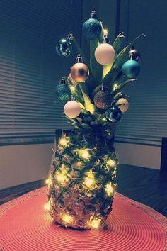 Piña árbol de navidad