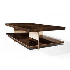 Mesa de centro / moderna / de madera / de interior - GRID by Barlas Baylar - Hudson Furniture